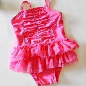 Old Navy Hot Pink Tutu Swimsuit